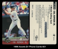 1996 Assets $1 Phone Cards #21