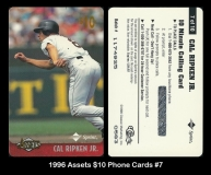 1996 Assets $10 Phone Cards #7
