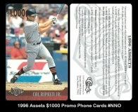 1996 Assets $1000 Promo Phone Cards #NNO