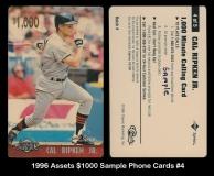 1996 Assets $1000 Sample Phone Cards #4