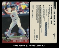 1996 Assets $2 Phone Cards #21