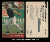 1996 Assets $5 Phone Cards #14