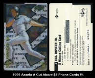 1996 Assets A Cut Above $5 Phone Cards #4