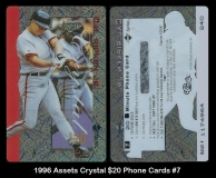 1996 Assets Crystal $20 Phone Cards #7