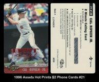 1996 Assets Hot Prints $2 Phone Cards #21