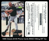 1996 Classic $100 Phone Cards #NNO Hitting Off Tee
