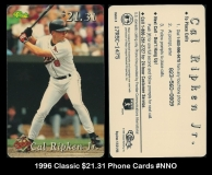 1996 Classic $2131 Phone Cards #NNO