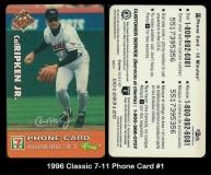 1996 Classic 7-11 Phone Card #1