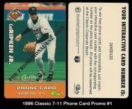 1996 Classic 7-11 Phone Card Promo #1