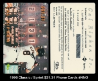 1996 Classic Sprint $2131 Phone Cards #NNO