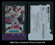 1996 Clear Assets $1 Phone Cards #16