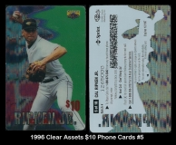 1996 Clear Assets $10 Phone Cards #5