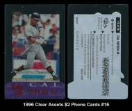 1996 Clear Assets $2 Phone Cards #16