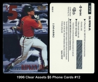 1996 Clear Assets $5 Phone Cards #12