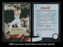 1996 Coca Cola Sprint Card Cels Gold #3