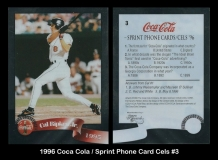 1996 Coca Cola Sprint Phone Card Cels #3
