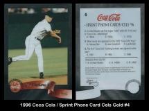 1996 Coca Cola Sprint Phone Card Cels Gold #4