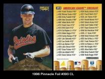 1996 Pinnacle Foil #393