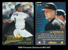 1996 Pinnacle Starburst #63 NAT