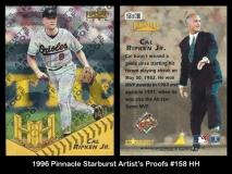 1996 Pinnacle Starburst Artists Proofs #158 HH