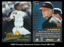 1996 Pinnacle Starburst Artists Proofs #63 NAT