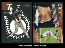 1996 Pinnacle Team Spirit #5