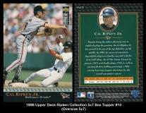 1996 Upper Deck Ripken Collection 5x7 Box Topper #10