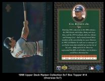 1996 Upper Deck Ripken Collection 5x7 Box Topper #14