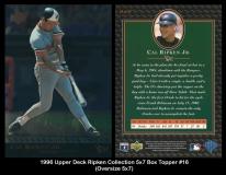 1996 Upper Deck Ripken Collection 5x7 Box Topper #16
