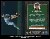 1996 Upper Deck Ripken Collection 5x7 Box Topper #17