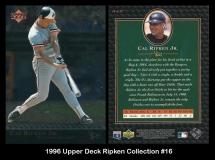 1996 Upper Deck Ripken Collection #16