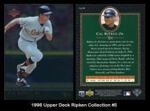 1996 Upper Deck Ripken Collection #5