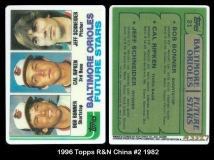 1996 Topps R&N China #2 1982