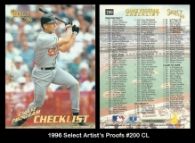 1996 Select Artists Proofs #200 CL