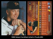1996 Select Certified Artists Proofs #53