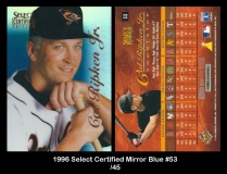 1996 Select Certified Mirror Blue #53