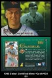 1996 Select Certified Mirror Gold #139