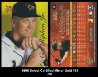1996 Select Certified Mirror Gold #53