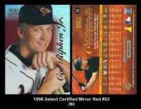 1996 Select Certified Mirror Red #53