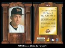 1996 Select Claim to Fame #1