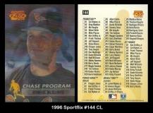 1996 Sportflix #144 CL