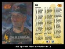 1996 Sportflix Artists Proofs #144 CL