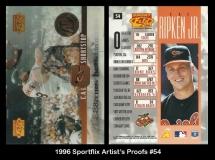 1996 Sportflix Artists Proofs #54