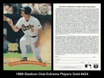 1996 Stadium Club Extreme Players Gold #424