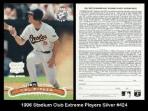1996 Stadium Club Extreme Players Silver #424