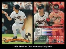 1996 Stadium Club Members Only #424
