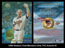 1996 Stadium Club Members Only TSC Awards #1