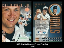 1996 Studio Bronze Press Proofs #1