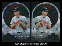 1996 Studio Stained Glass Stars #1