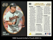 1996 Summit Artists Proofs #200 CL